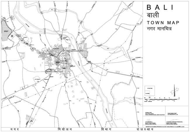 Bali Town Map