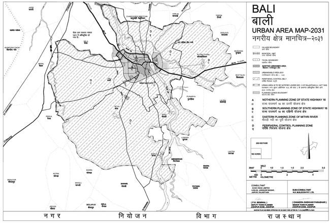 Bali Urban Area Map 2031