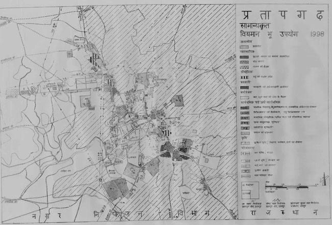 Pratapgarh Existing Land Use Map 1998