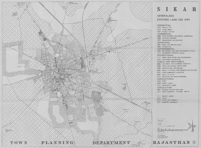 Sikar Existing Land Use Map 1985