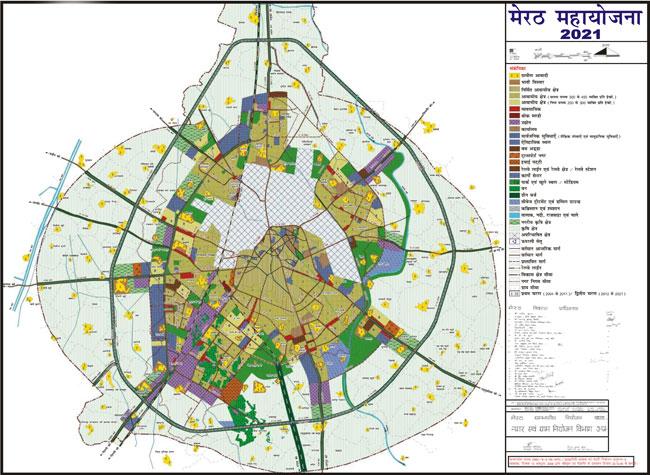Meerut India Map.Meerut Master Plan 2021 Map Pdf Download Master Plans India