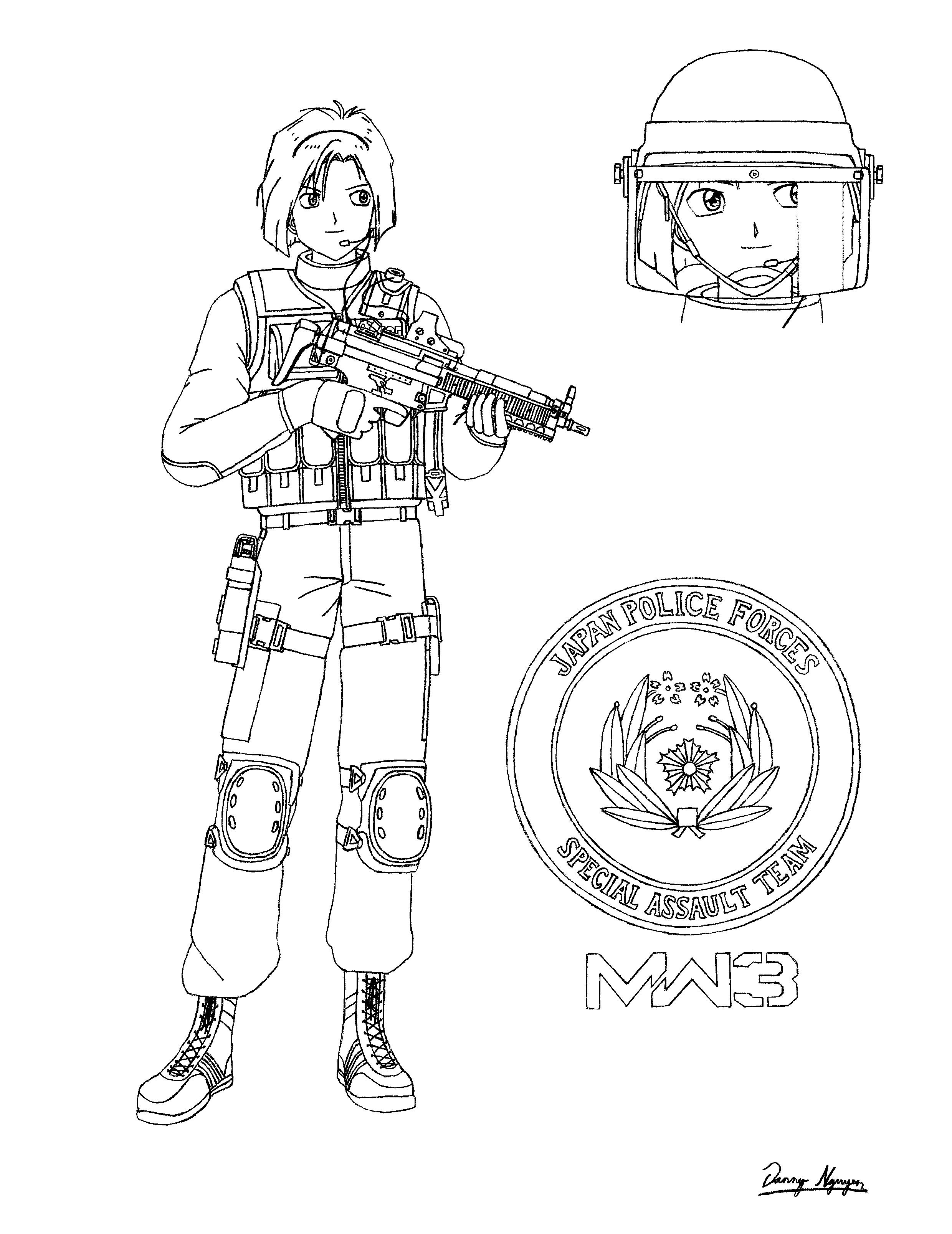 Call Of Duty Advanced Warfare Coloring Pages Coloring Pages
