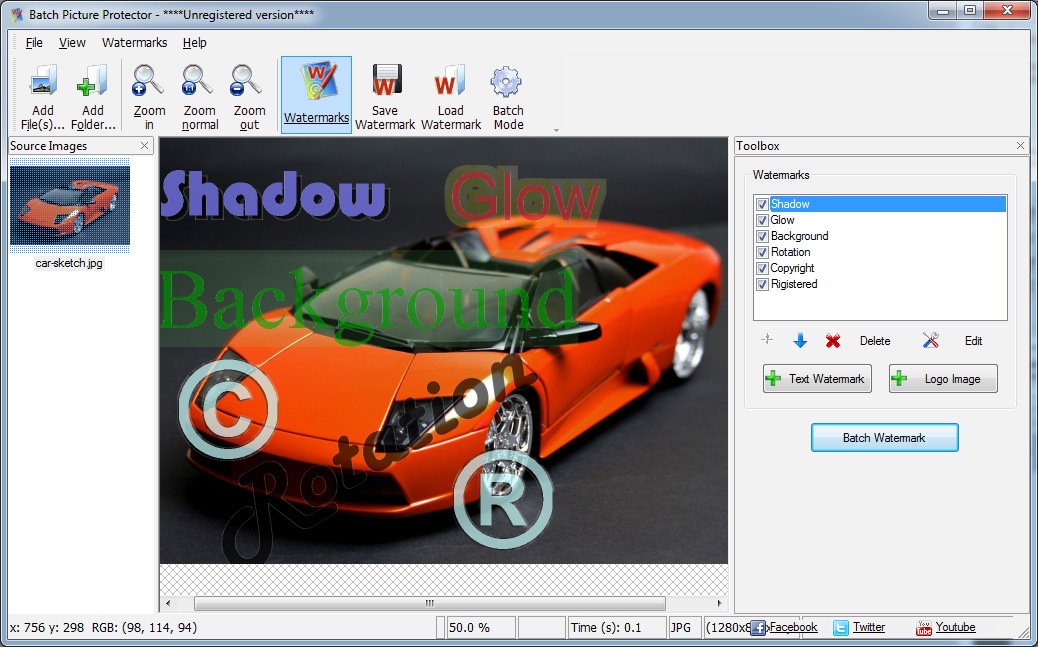 ضع علامة مائية على صورك مع Batch Picture Protector برنامج