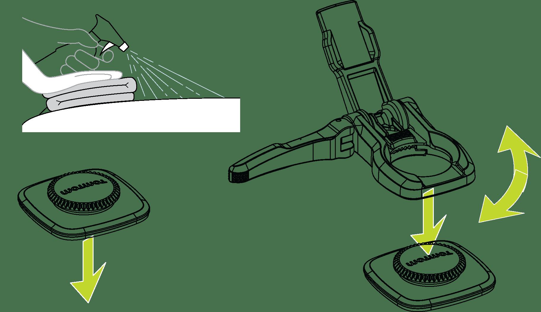 360-Grad-Halterung installieren