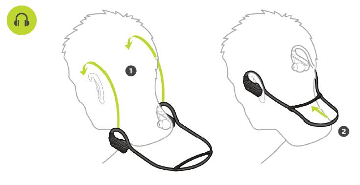 Wearing your headphones