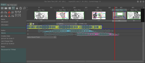 tvpaint animation 11 pro timeline view