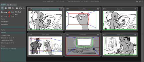 tvpaint animation 11 pro thumbnail view