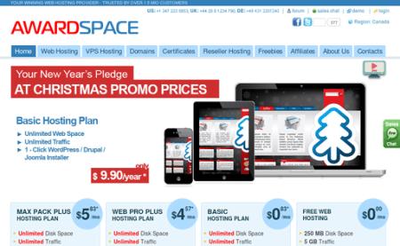 awardspace free web hosting