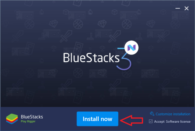 bluestacks installing