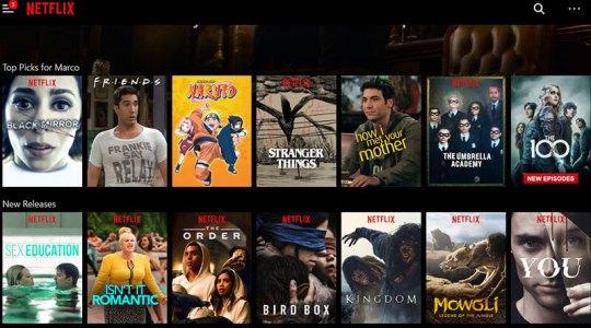 Netflix-Menu