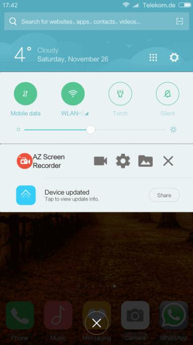 WhatsApp Video Call screen AZ screen
