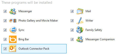 Windows live essentials pack