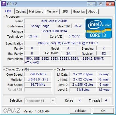 CPU menu