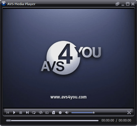 AVS Media Player software showing Display Screen