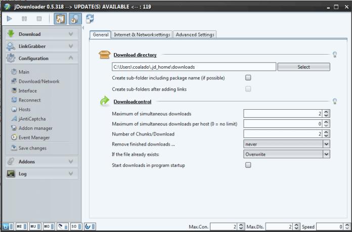 JDownloader Configuration