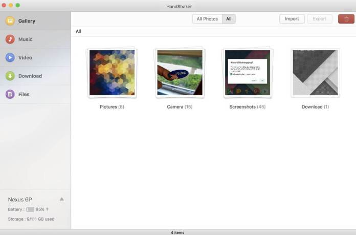 Transfer Android file to MAC