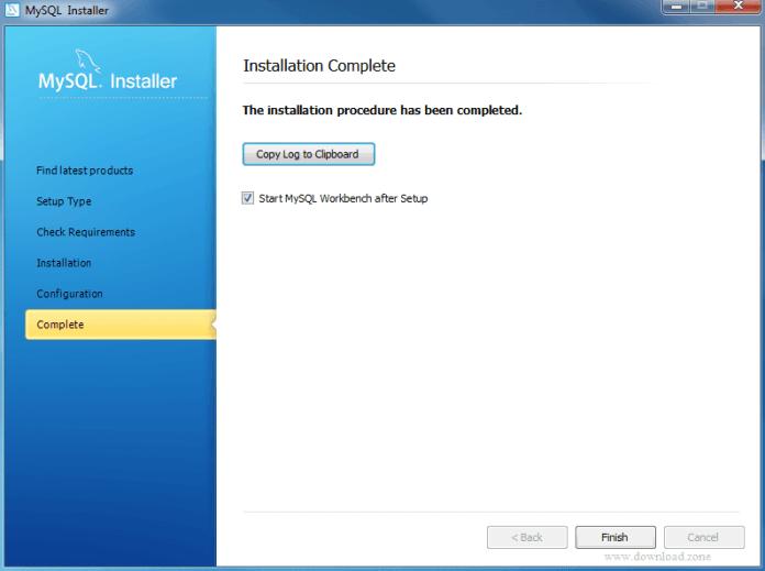 complete installation of MySQL