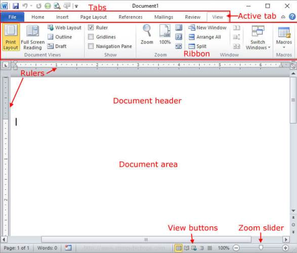 microsoft word functions