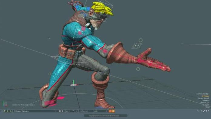 Modo-3D-modeling-showing-rigging