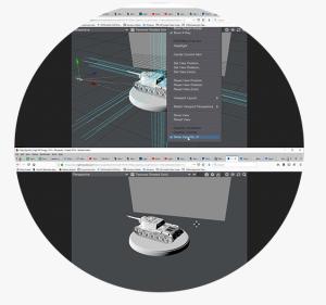 LightWave 3D Software showing New OpenGL Viewport Option
