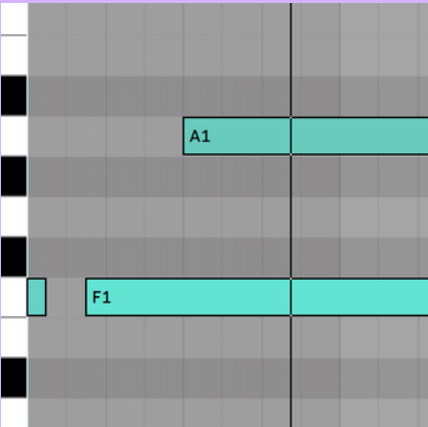 Ableton Live Software showing Note chasing