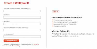 mathematica-Create a Wolfram ID