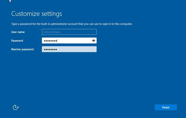 windows server 2019-create password for windows server
