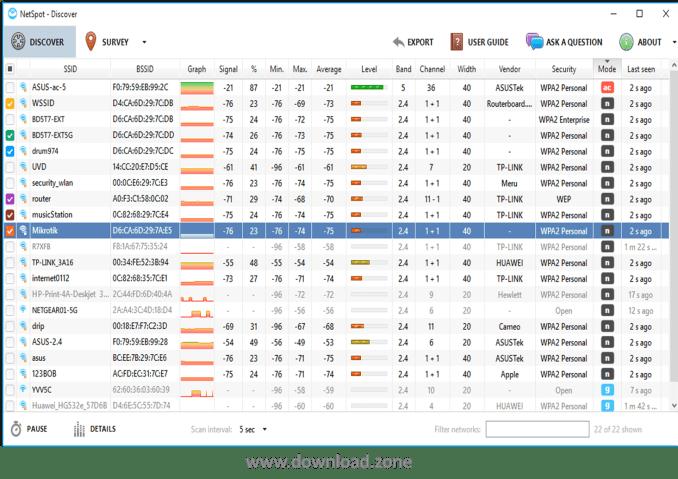 Netspot for windows-discovermode