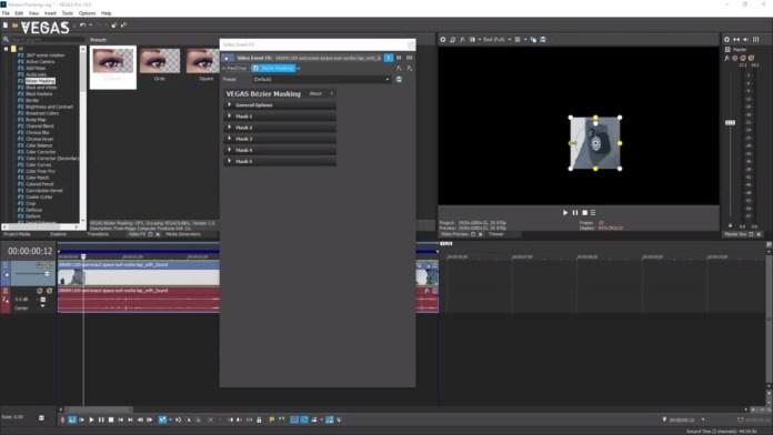Vegas Pro Software showing display screen