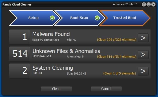 Panda Cloud Cleaner Malware Detect
