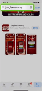 Search junglee Rummy in app store