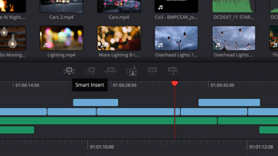 davinci resolve software showing edit modes