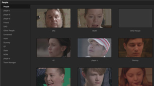 davinci resolve for windows software showing facial recogination