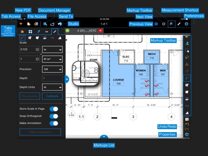 Bluebeam Revu Download Software Menu indicater