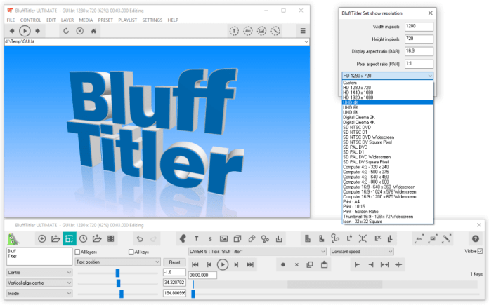 BluffTitler Video Maker