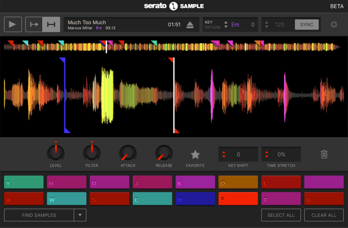 Colored waveforms