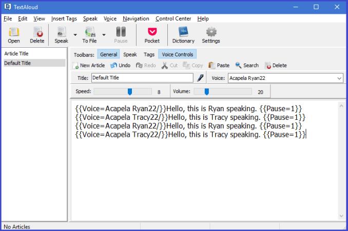 TextAloud Text To Speech Software - Record Voice