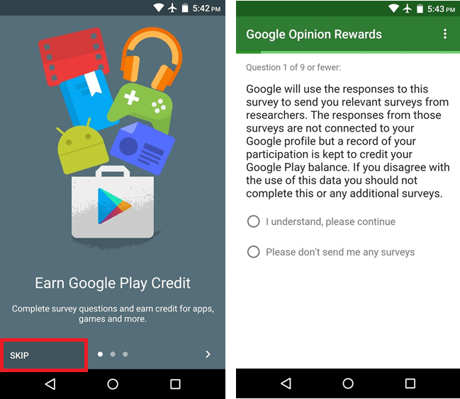 create profile in Google Play Store