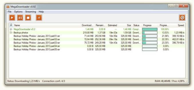 mega downloader download files