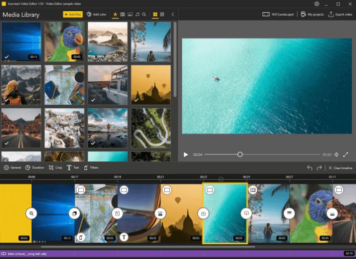 Icecream Video Editor Main Window