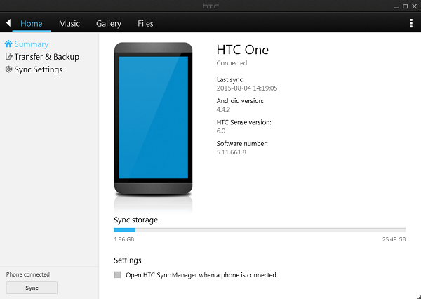 HTC-Sync-Manager-Home-Menu