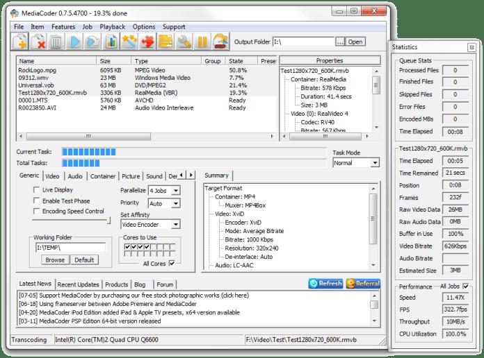 MediaCoder Software