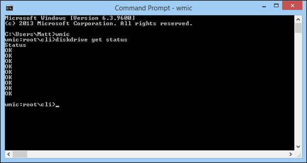 command prompt - wmic