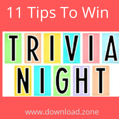 tips to win trivia night
