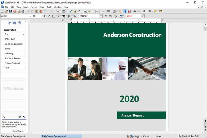 corel_wordperfect Annual Report of Word Processing Software