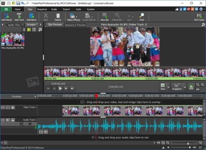 videopad-video-editor-music