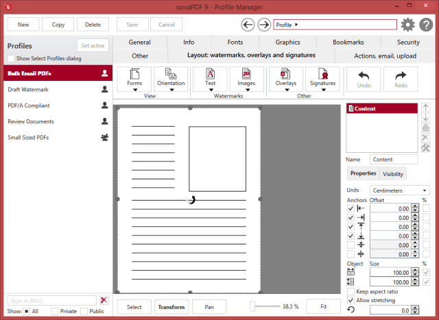 Build Email PDF to create PDF Document