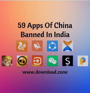 59 Apps Of China Banned In India