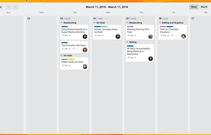 Trello Calendar