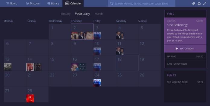 Stremio Software features-calendar